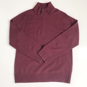 Patagonia Maroon Wool Blend Long Sleeve Sweater